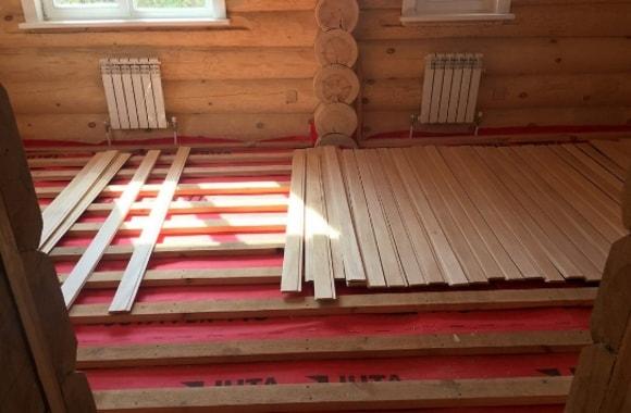 Ремонт полов в деревянном доме