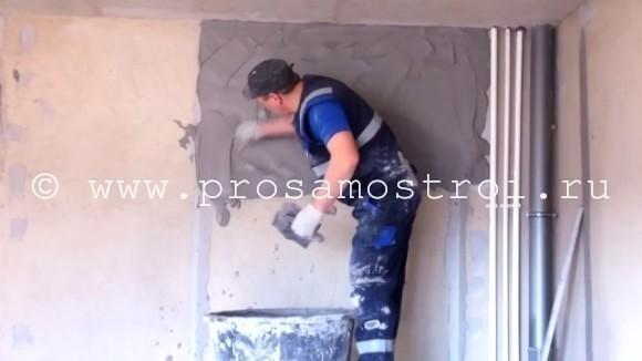Ремонт штукатурки стен отдельными местами