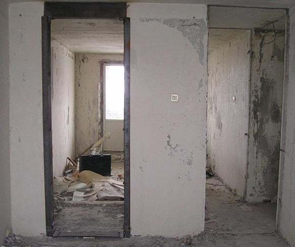 Стены требующие отделки