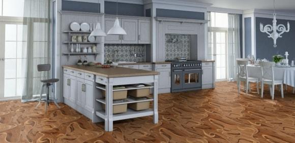 Картинка линолеума на кухне