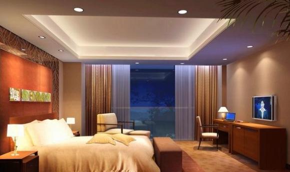 Подсветка потолка в спальной