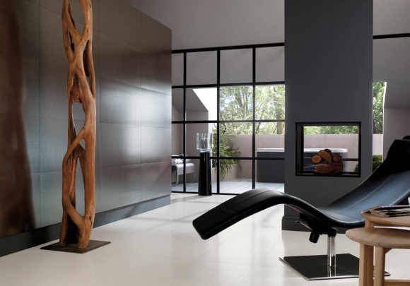 Белый ламинат в интерьере стиля минимализм