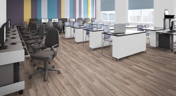 Ламинат чаще используют в офисных помещениях