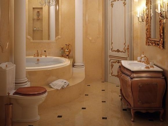 Полное отсутствие плинтусов в ванной