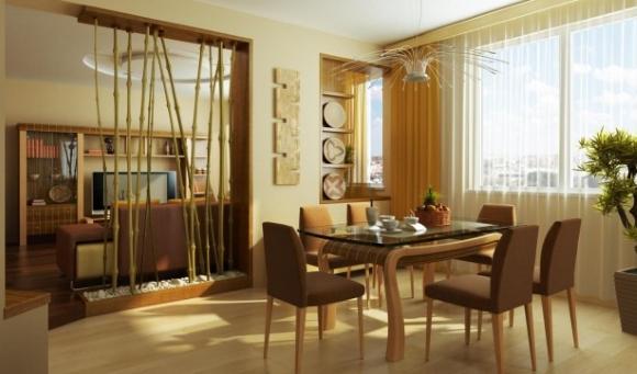 Фото перегородки из гипсокартона кухня гостиная