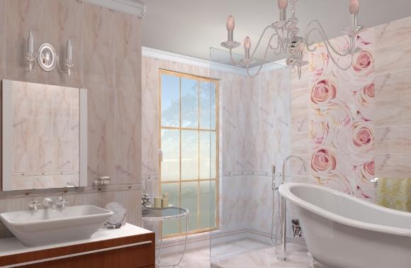 Фотопечать на панелях в ванной