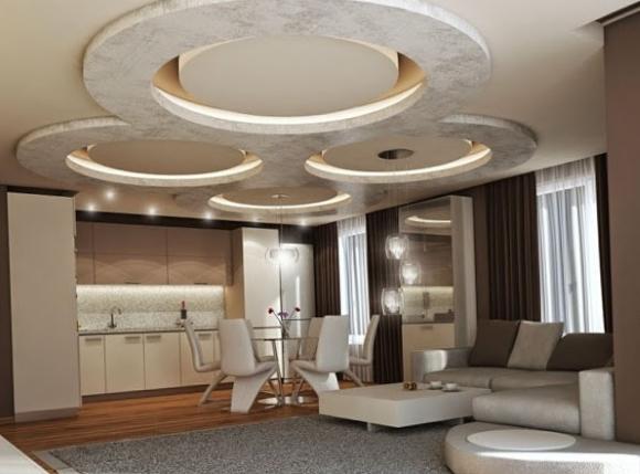 Пример дизайна потолка из гипсокартона