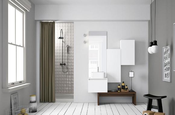 Ванная с туалетом в светлом стиле