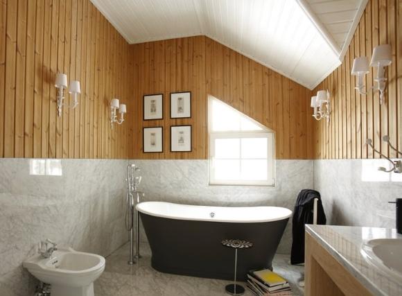 Влагостойкий гипсокартон в ванной под плитку в деревянном доме