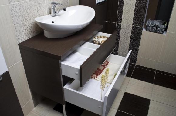Фотография тумбы для раковины-чаши (накладного умывальника) в ванную комнату