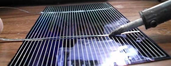 Пайка элементов солнечной батареи своими руками