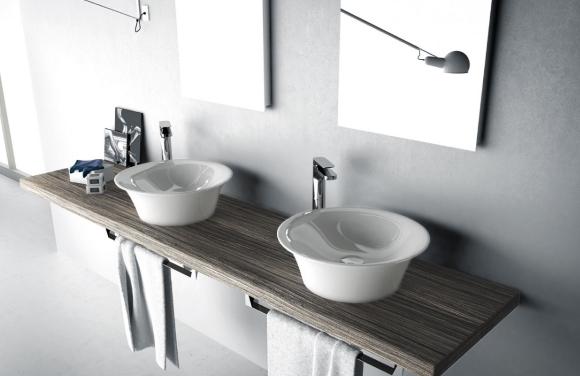 Раковина накладная на столешницу в ванную комнату сверху своими руками
