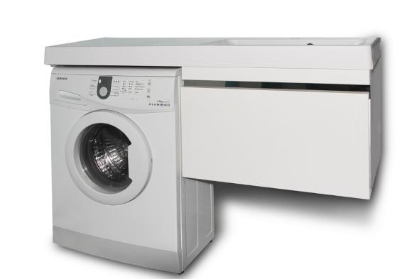 Раковина в комплекте со стиральной машинкой