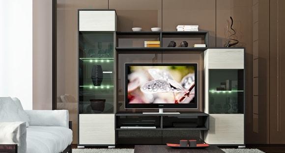 Фото модульной мебели эконом класса для маленькой гостиной в современном стиле