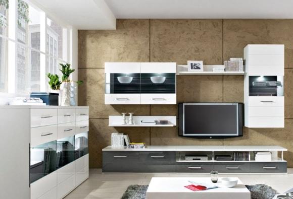 Фото светлой модульной мебели для гостиной в современном стиле