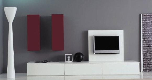 Модульная мебель белого цвета в современной гостиной комнате