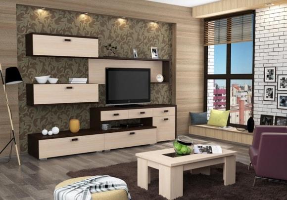 Модульная мебель эконом класса для маленькой гостиной