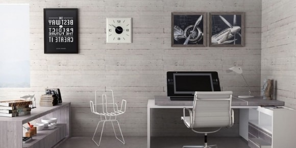 Модульная мебель с рабочим местом для гостиной в современном стиле