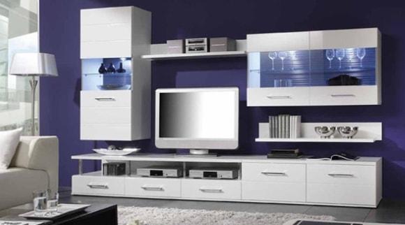 Модульная мебель светлых тонов для гостиной в современном стиле