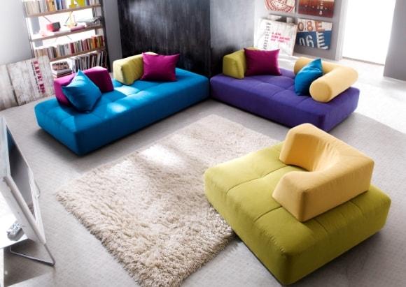 Мягкая модульная мебель для современной гостиной