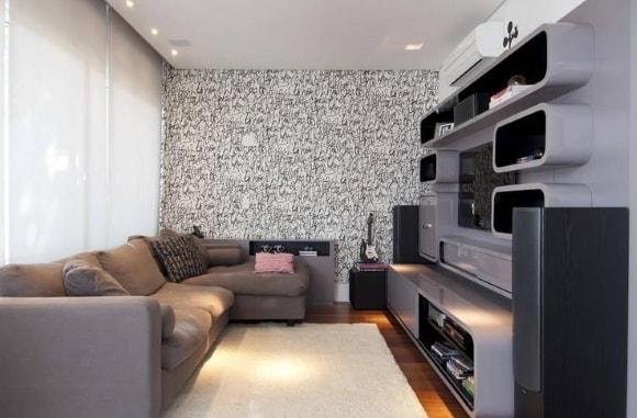 Подвесная модульная мебель для гостиной в современном стиле