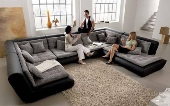 Стильная мягкая модульная мебель для современной гостиной