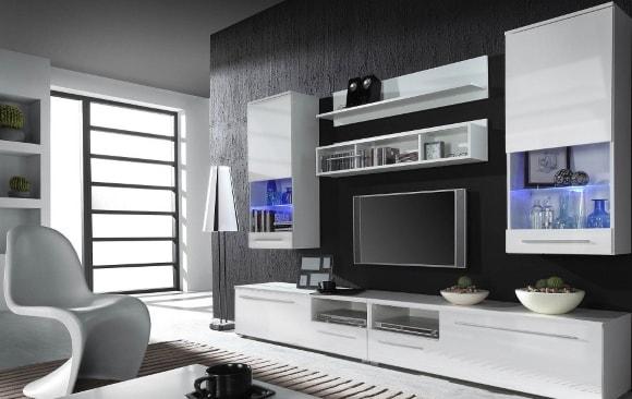 Светлая модульная мебель для гостиной
