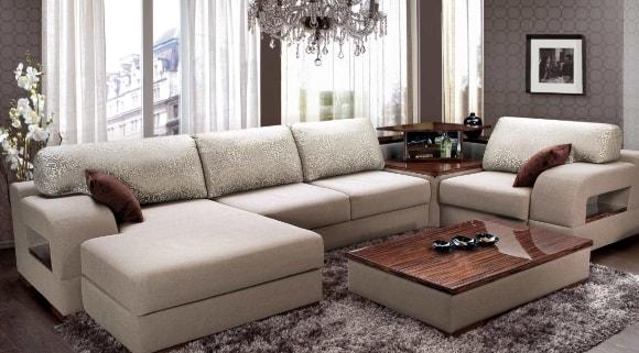 Угловые диваны в составе модульной композиции для гостиной