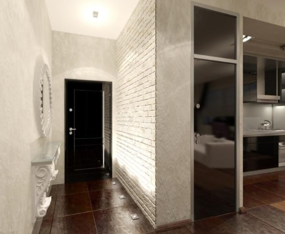 Декоративная плитка под кирпич в квартире фото