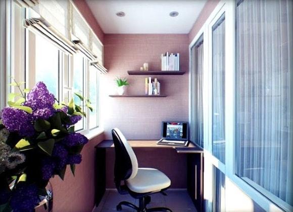 Идеи для расположения рабочего места на балконе фото
