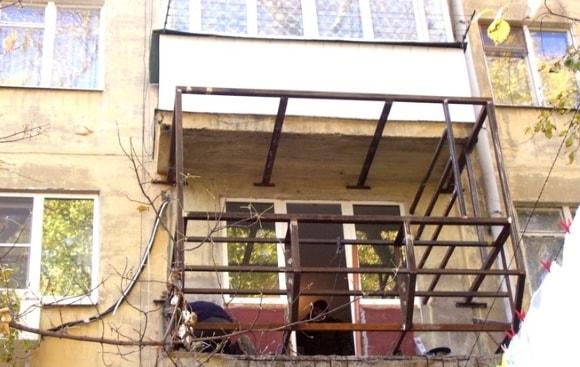 Капитальный ремонт балконов на фото