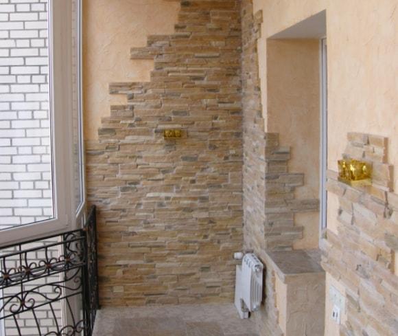 Декоративная плитка под камень для внутренней отделки - фото.