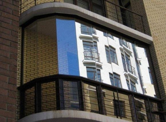 Пример остекления балконов