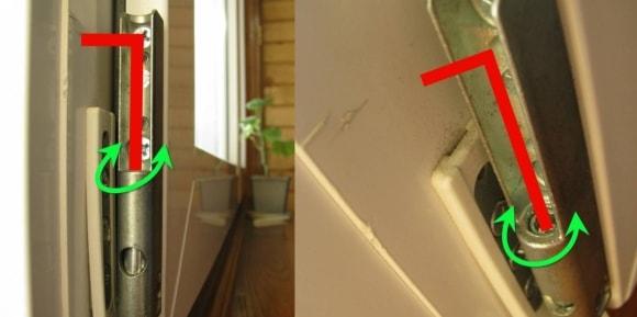 Регулировка петель пластиковых окон