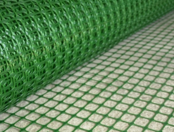 Пластиковая сетка для сухой стяжки пола