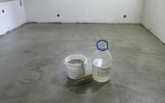 Жидкое стекло для полусухой стяжки пола