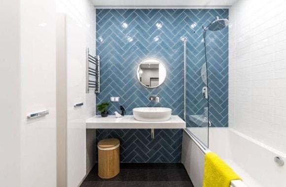 Дизайн ванной комнаты 2018, современные идеи на фото