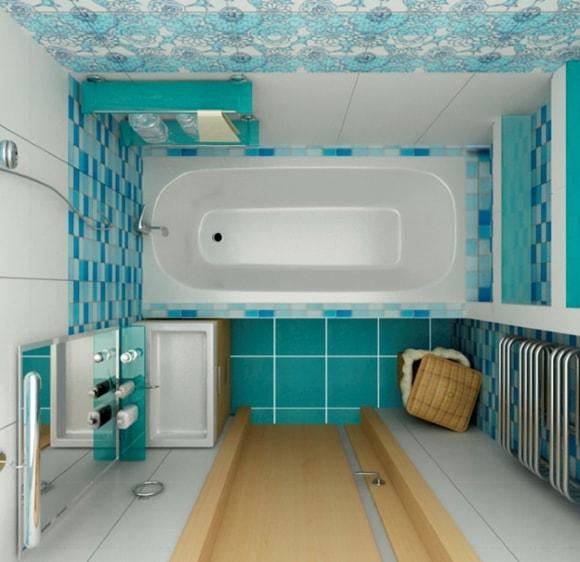 Дизайн ванной комнаты без унитаза