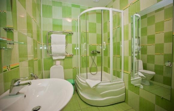 Душевая зона с туалетом без ванны