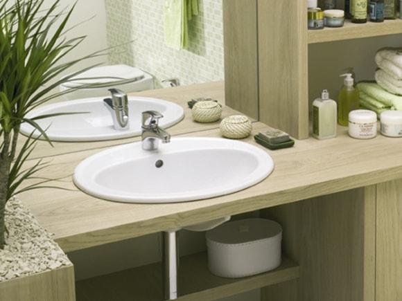 Раковина в ванной комнате в виде чаши