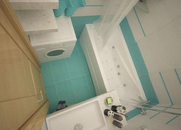 Фото дизайна ванной комнаты 3 кв метра 4