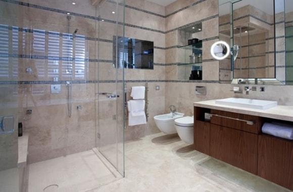 Ванная комната большого размера