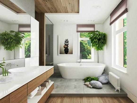 Ванная комната в частном доме/коттедже