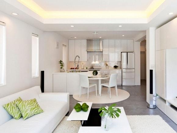 Кухня, совмещенная с гостиной на фото