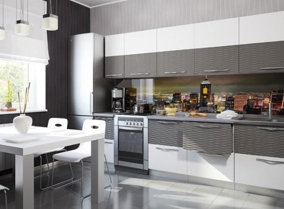 Дизайн кухни в стиле 3д