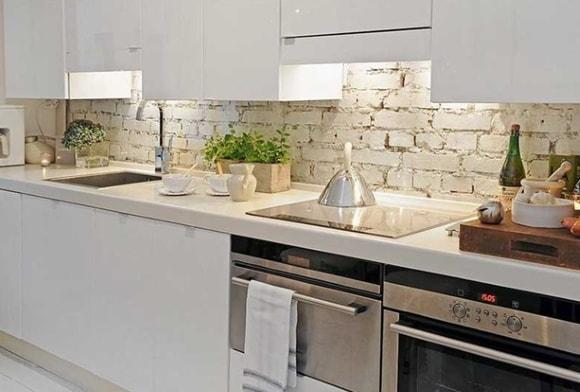 Вариант дизайна фартука на кухне