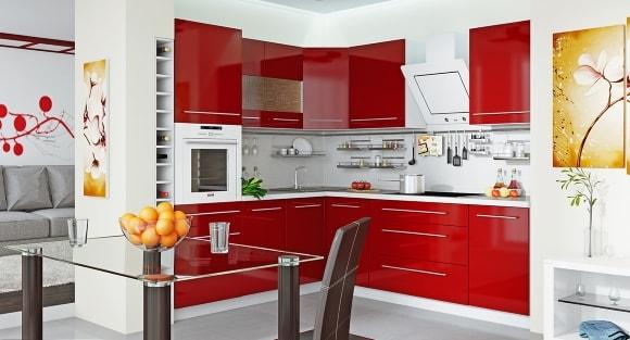 Вариант дизайна мебели на кухне