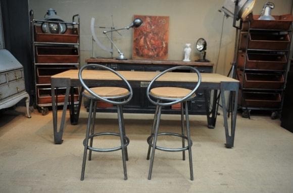 Барные стулья в стиле лофт