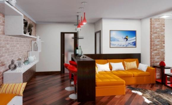 Двухкомнатная квартира в стиле лофт