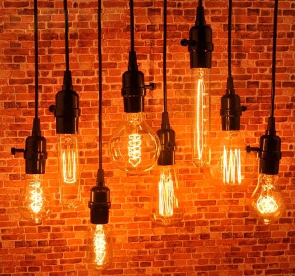 Лампочки в стиле лофт